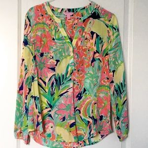 Lilly Pulitzer Stacey Silk Top